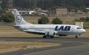 avion de la aerolinea inoperativa de cochabamba LAB