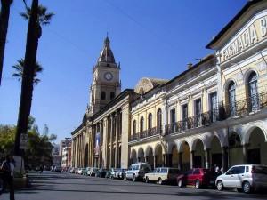 calles en plaza principal en la ciudad de cochabamba
