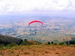 parapente en la ciudad de cochabamba