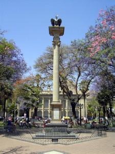 plaza 14 de septiembre en la ciudad de cochabamba