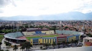 vista del estadium felix capriles en la ciudad de cochabamba